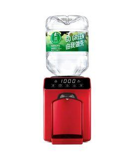 屈臣氏 - Wats-Touch Mini 即熱式溫熱水機 (紅) + 48樽8公升樽裝蒸餾水
