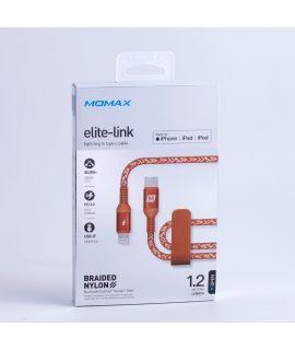 Momax Elite Link Lightning to Type-C 1.2M 連接線 (珊瑚紅)