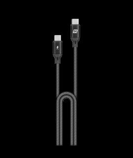 Momax Go Link USB-C 至 USB-C PD1.2M 編織紋充電線 (黑)