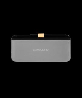 Momax Onelink 4合1 USB-C 擴充器 (灰)