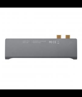 Momax Onelink 7合1 雙USB-C 擴充器 (灰)