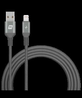 Momax EliteLink Lightning to USB-A 2M 三重編織線 (黑)