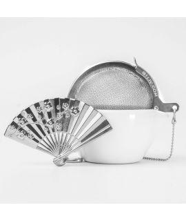 CHICHI 茶具 -  Japanese Fan CU (Silver)
