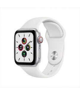 Apple Watch SE 40mm GPS (鋁金屬錶殼: 銀色) (運動錶帶: 白色)