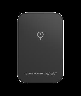 MOMAX Q.Mag Power 磁吸無線充流動電源 5000mAh (黑色)