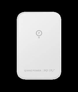 MOMAX Q.Mag Power 磁吸無線充流動電源 5000mAh (白色)