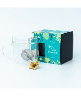 Double Walled Glass Mug x Chichi Box set - Nature (Gold)