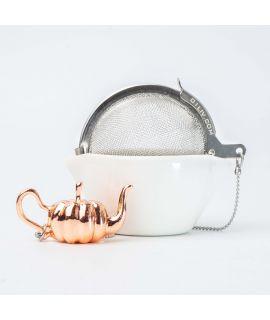 CHICHI 茶具 - Pumpkin Teapot CU (Rose Gold)