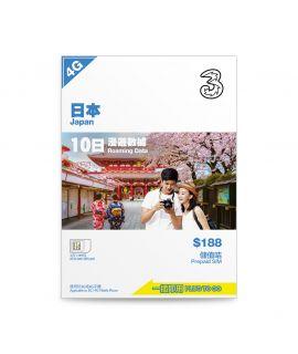 「日本10日」外遊數據儲值卡(1張) – 8折