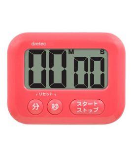 Dretec 大面版計時器 (粉紅色)