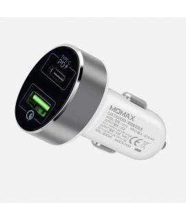 Momax 雙輸出 QC3.0 + Type-C PD 汽車快速充電器 (白色)