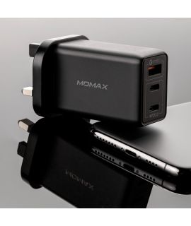 Momax One Plug 3-USB 智能充電器 (黑)