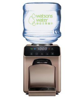 屈臣氏家居水機 -  Wats-Touch即熱式冷熱水機 (古銅金) + 36樽12公升家庭裝蒸餾水