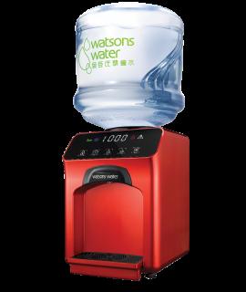 屈臣氏家居水機 - Wats-Touch即熱式冷熱水機 (紅) + 36樽12公升家庭裝蒸餾水