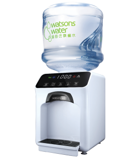 屈臣氏家居水機 -  Wats-Touch即熱式冷熱水機 (白) + 36樽12公升家庭裝蒸餾水