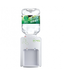 屈臣氏 - Wats-MiniS 座檯式冷熱水機 (白) + 8公升樽裝蒸餾水 x 4樽 (2樽x2箱) (電子水券)