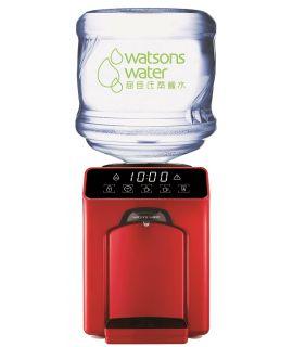 屈臣氏 - Wats-Touch Mini 即熱式溫熱水機 (紅) + 36樽12公升家庭裝蒸餾水