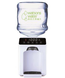 屈臣氏 - Wats-Touch Mini 即熱式溫熱水機 (白) + 36樽12公升家庭裝蒸餾水